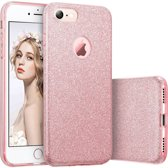 iCall - iPhone 7 - Glitter Fonkelende Bling Slim Fit Case Rose Gold (Rose Gouden Hoesje Shining Luxury Glitters Sparkle)
