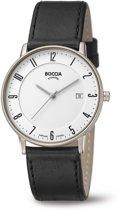 Boccia 3607-02 horloge heren - zwart - titanium