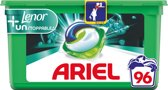 Ariel 3in1 Pods Unstoppables Touch Of Lenor - Kwartaalbox 3 x 32 Wasbeurten - Wasmiddelcapsules
