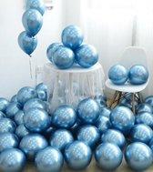 Luxe Chrome Ballonnen Blauw - 10 Stuks - Party Feest Ballonnenset