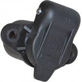 3-polige stekkerdoos met vlakstekker aansluiting - zwart