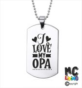 Ketting RVS - I Love My Opa