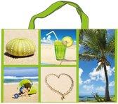 Strandtas/ boodschappentas tropical