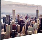 Stad Chicago Aluminium 60x40 cm - Foto print op Aluminium (metaal wanddecoratie)