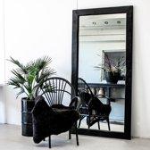 Spiegel Zwart 200 x 100 cm   Spiegel Handgemaakt Lijst Hout