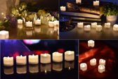 Luxe Led Kaarsen Set - Kerstverlichting - 12 stuks – Bewegende Vlam – Led Theelichtjes – Met Batterijen – Led Kaarsen – Met Druipende Wax – Led Waxinelichtjes