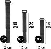 Kabelbinders Hersluitbaar Herbruikbaar Klittenband Verstelbaar Verschillende Lengtes Cable Holder