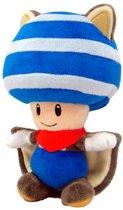 Super Mario Toad vliegende eekhoorn blauw pluche knuffel 20 cm