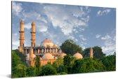 De moskee van Ahmedabad in India Aluminium 90x60 cm - Foto print op Aluminium (metaal wanddecoratie)