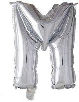 letterballon - 41 cm - zilver - &