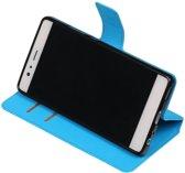 Blauw Huawei P9 Lite TPU wallet case booktype hoesje HM Book