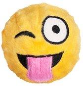 FabDog Faball Wink Emoji - Hond - Speelgoed - Maat S: 7,6 cm - Geel