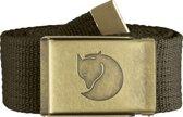 Fjallraven Canvas Brass Belt 4 cm Kledingriem - Unisex - Dark Olive