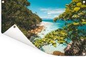 Groot Barrièrerif bij het Fitzroy eiland Tuinposter 90x60 cm - Tuindoek / Buitencanvas / Schilderijen voor buiten (tuin decoratie)