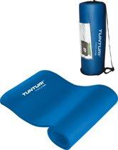 Tunturi NBR - Fitnessmat - Met draagtas - 180 cm x 60 cm x 1.5 cm -  Blauw