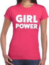Girl Power tekst t-shirt roze dames - dames shirt  Girl Power M