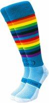 Wacky Sox Double Rainbow - Hockeysokken - Volwassenen - Maat 41-46 - Multicolor