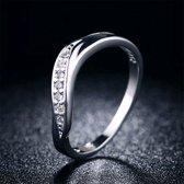 Fate Jewellery Ring FJ128 - 18mm - Zilverkleurig met zirkonia kristallen