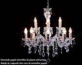 Kristallen kroonluchter Maria Theresa 8+4 lichts Ø60cm - chroom kristal