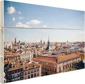 FotoCadeau.nl - Het centrum van Madrid Hout 120x80 cm - Foto print op Hout (Wanddecoratie)