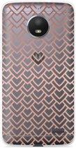 Motorola Moto E4 Hoesje Pink Pattern