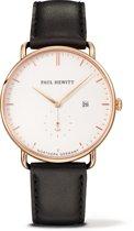 Paul Hewitt The Grand Atlantic Line - Horloge - Leer - Zwart - Ø 42 mm