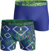 Björn Borg Naito S Heren Boxershort - 2-pack - Blauw/Print - Maat S