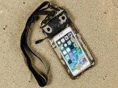Waterdichte telefoonhoes voor Archos 50b Platinum met audio / koptelefoon doorgang, zwart , merk i12Cover