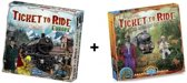 Ticket to Ride Europe + uitbreiding Ticket to Ride Afrika - Bordspel - Combi Deal