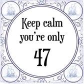 Bol Com Verjaardag Tegeltje Met Spreuk 47 Jaar Keep Calm You Re