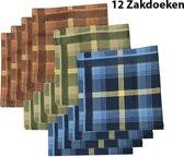 Zakdoeken - Heren - 12 zakdoeken - cadeauset - heren zakdoeken - 9