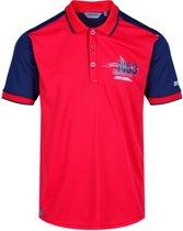 Regatta Poloshirt - Maat L  - Mannen - rood/blauw