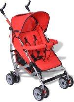 vidaXL - Kinderwagen Moderne kinderwagen rood (5-standen)