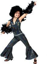 Verkleedpak disco glitter meisje Boogie Jumpsuit 128