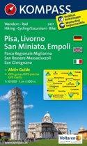 Kompass WK2457 Pisa, Livorno, San Miniato, Empoli