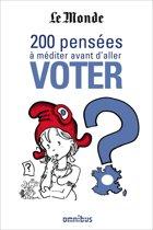 200 pensées à méditer avant d'aller voter