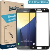 Just in Case Full Cover Tempered Glass Samsung Galaxy J7 (2017) Protector - Black