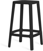 TOOU Cadrea barchair - Kunststof barkruk - Middel 65 cm - Zwart