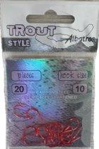 Albatros Trout Style - Forellenhaak - Haakmaat 10 - 20 stuks