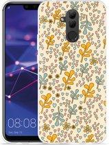 Huawei Mate 20 Lite Hoesje Doodle Flower Pattern