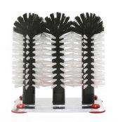 Spoelborstel met aluminium voet- Driedelig - 1 stuk