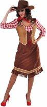 Cowgirl jurk met geruite blouse voor dames 42 (xl) - western / country outfit
