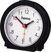 """Hama Wekker """"Classic"""", geluidsarm, zwart/wit"""