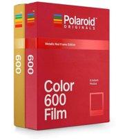 Polaroid Originals film met goud en rood kader - geschikt voor type 600/i-Type camera's