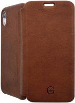 iPhone XR Bookcase hoesje - Graffi - Effen Bruin - Leer