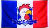 St. Polyester vlag Allez France (90 x 150 cm)
