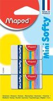 36x Maped potloodgom Softy mini formaat, blister met 3 stuks