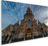 De historische Kerk van de Verlosser op het Bloed in het Europese Rusland Plexiglas 120x80 cm - Foto print op Glas (Plexiglas wanddecoratie)
