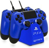 4Gamers 4G-4182 - Twin Play 'n' - Oplaadstation - Blauw - PS4