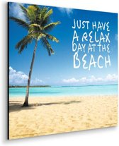 Strand Relax  - Schilderij 30 x 30 cm
